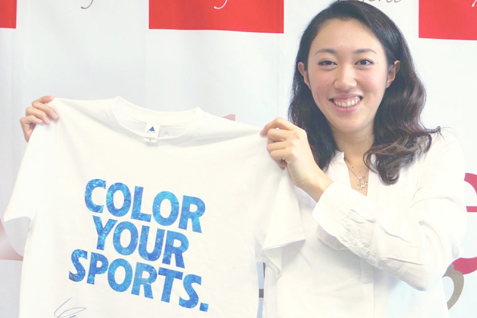 「COLOR YOUR SPORTS」Tシャツ アスリートNO.005